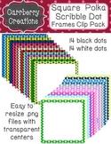 Square Frames Clip Pack | Sketchy Polkadots