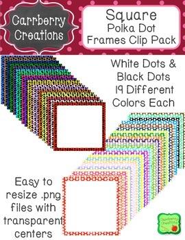 Square Frames Clip Pack | Polkadot
