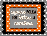 Square Polka Dot Letter and Number Clipart
