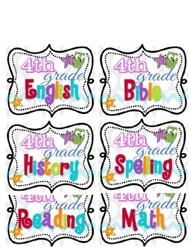Square Polka Dot Owl Subject Labels