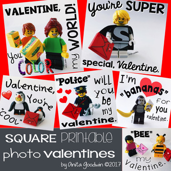 Square Printable PHOTO VALENTINES