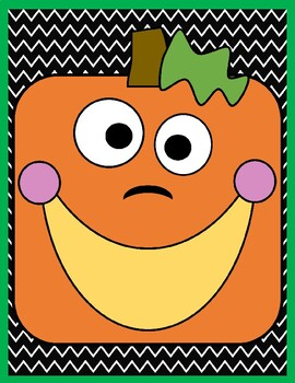 Square Pumpkin Counting Teeth Card Game