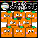 Square Pumpkin Pals Clipart