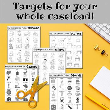 Square Pumpkin Speech and Language Craftivity