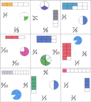 Square Puzzle - Fractions