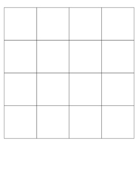 Square Puzzle Template