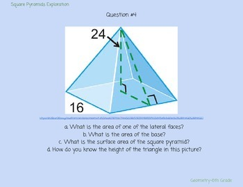 Square Pyramids & Geometry Discovery