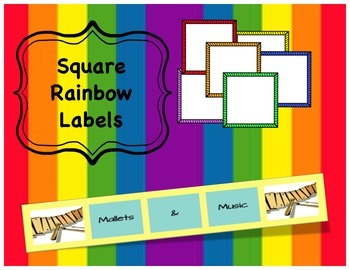 Square Rainbow Labels