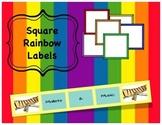 Square Rainbow Labels