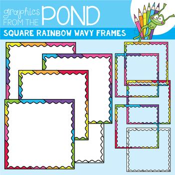 Square Rainbow Wavy Frames