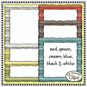 Square & Rectangle Barn Wood Frames - Clip art