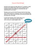 Square Root Bingo
