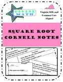 Square Root Cornell Notes- Virginia SOL