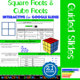 Square Root & Cube Root Interactive Slides for Google Classroom