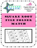 Square Root File Folder Match- Virginia SOL