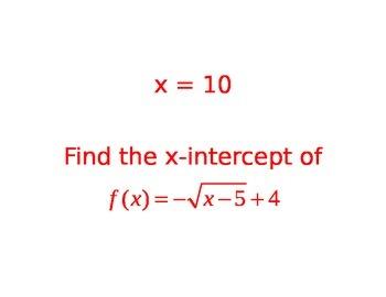 Square Root Function Scavenger Hunt