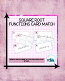 Square Root Functions Card Match