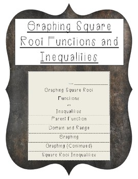 Square Root Functions Foldable