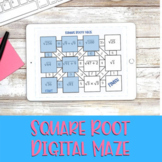 Square Root Maze - Digital Distance Learning Activity
