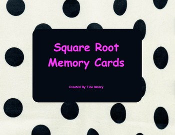 Square Root Memory Cards 1-15