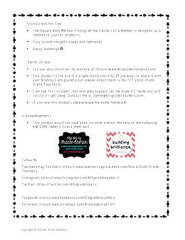 Square Root Method Bookmark