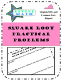 Square Root Word Problems- Virginia SOL