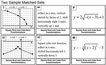Square & Cube Root Graph Match (Alg 2 PreCal)
