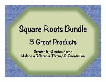 Square Roots Bundle! 3 Great Products
