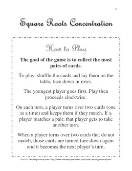 Square Roots Concentration