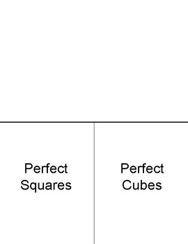 Square Roots Cube Roots (Foldable)