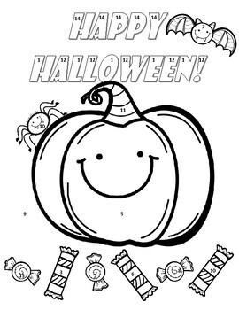 Square Roots & Cube Roots Halloween Color Page Activity | TpT