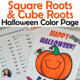 Square Roots & Cube Roots Halloween Color Page Activity