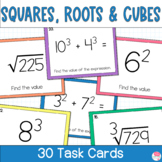 Square Roots and Cube Roots Activity Task Cards