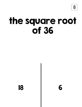 Square Roots & Cube Roots TRICK or TREAT Halloween Activity