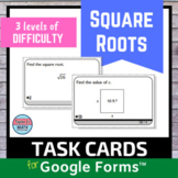 Square Roots Digital Distance Learning Task Cards