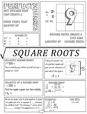 Square Roots Doodle Notes and Lesson Plan