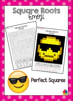 Square Roots Emoji {Perfect Squares}