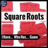 Square Roots I Have, Who Has Game