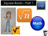 Square Roots - Introduction with Numbers and Simple Algebr