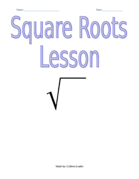Square Roots Lesson