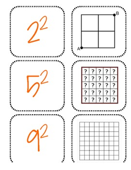 Square Roots Matching Game