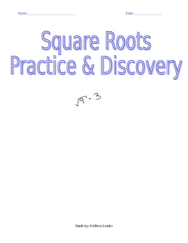 Square Roots Practice and Discovery