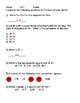 Square Roots Quiz - Key Included - CCSS Aligned