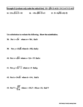 Square Roots Worksheet