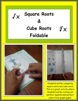 Square Roots and Cube Roots Foldable (Interactive Notebook)