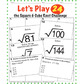 Square and Cube Roots CHALLENGE - 4 Math Stations - Great for Math Test Prep