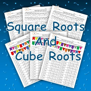 Square Roots and Cube Roots (Coloring Worksheet)