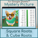 Square Roots and Cube Roots   Distance Learning   Mystery Picture   Corgi