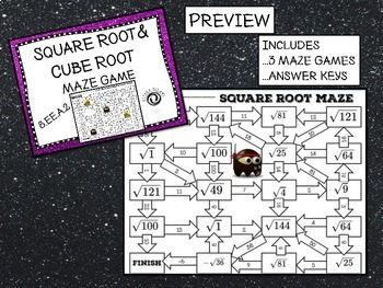 Square Roots and Cube Roots Game Bundle