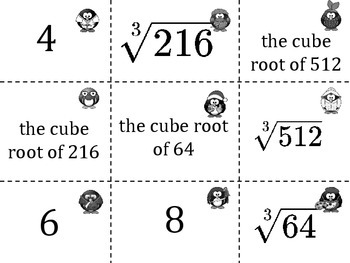 Square Roots and Cube Roots Game